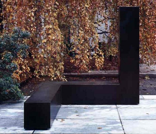 """Free Ride"", by Tony Smith (1962). Material: Painted steel. Size: 6' 8"" x 6' 8"" x 6' 8"". Collection: The Museum of Modern Art, New York."