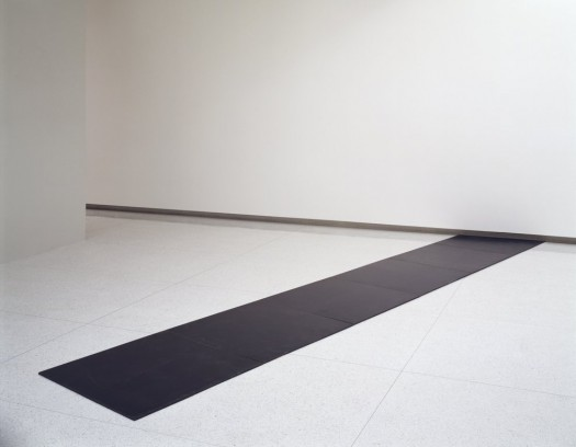 Carl Andre (1968). Size: overall 0.5 x 204 x 38 inches. Part of the Walker Art Center collection.