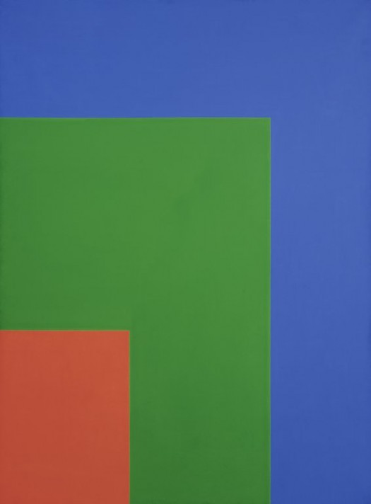 """Red Green Blue"", by Ellsworth Kelly (1964). Size: unframed 90 x 66 inches. Material: Oil on canvas. Part of the Walker Art Center collection."