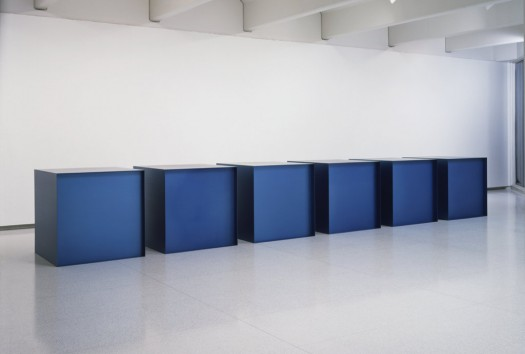 Untitled, Donald Judd (1971). Size: 6 boxes of 48 x 48 x 48 inches each. Part of the Walker Art Center collection